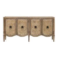Uttermost 25837 Thina Champagne Console Cabinet