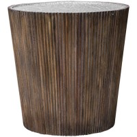 Uttermost 25871 Amra 22 X 22 inch Gray Glaze and Honey with Aluminum Accent Table
