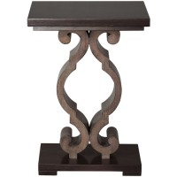 Uttermost 25979 Parina 26 X 18 inch Warm Ebony Stain and Taupe Gray Accent Table