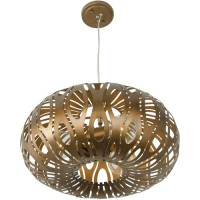 Varaluz 149C03HO Masquerade 3 Light 18 inch Hammered Ore Donut Pendant Ceiling Light, Hammered Ore Recycled Steel