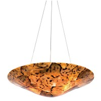 Varaluz 178P03B Big 3 Light 20 inch Chandelier Ceiling Light in Reclaimed Chocolate Tiger Shell